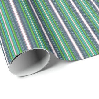 HAMbyWG - Wrapping Paper - Navy Lime White Stripes