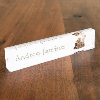 HAMbyWhiteGlove  Desk Nameplate - Teddy Bears