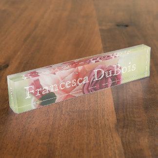 HAMbyWhiteGlove  Desk Nameplate - Watercolor Roses