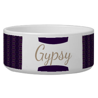 HAMbyWhiteGlove - Dog food Bowl - Gypsy Amethyst