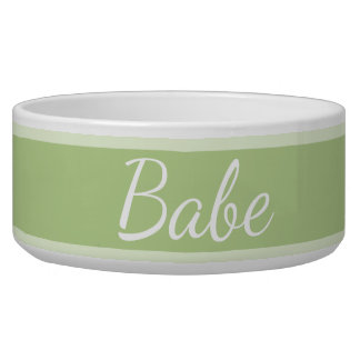 HAMbyWhiteGlove - Dog Food Bowl - Light Lime