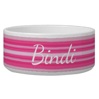 HAMbyWhiteGlove - Dog food Bowl  - Pink