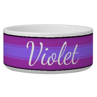 HAMbyWhiteGlove - Dog food Bowl  - Violet