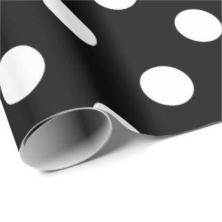 HAMbyWhiteGlove - Gift Wrap - Polka Dots on Black