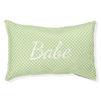 HAMbyWhiteGlove   Light Lime Gingham Pet Bed
