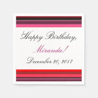 HAMbyWhiteGlove - Paper Napkin -  Pink & Red