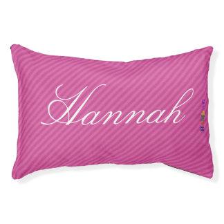 HAMbyWhiteGlove   Pink Stripe Stripe Dog Bed