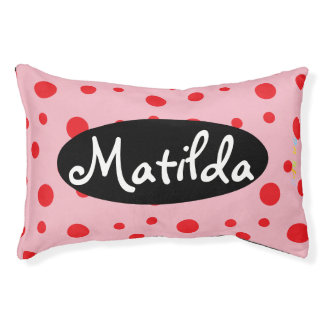 HAMbyWhiteGlove   Red Polka Dot Dog Bed