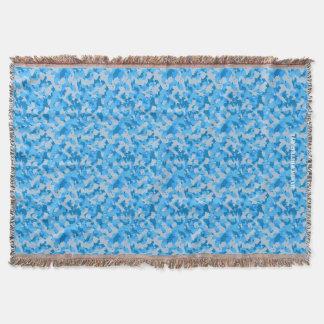 HAMbyWhiteGlove - Throw Blanket - Blue Camouflage