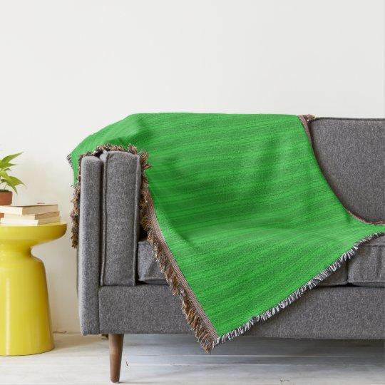 HAMbyWhiteGlove - Throw Blanket - Green/Green