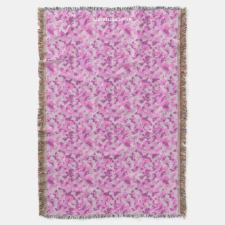 HAMbyWhiteGlove - Throw Blanket - Pink Camouflage