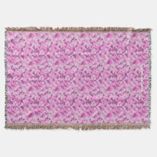 HAMbyWhiteGlove - Throw Blanket - Pink Camouflage