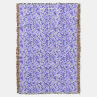 HAMbyWhiteGlove - Throw Blanket - Purple Camou