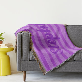 HAMbyWhiteGlove - Throw Blanket - Purple Violet