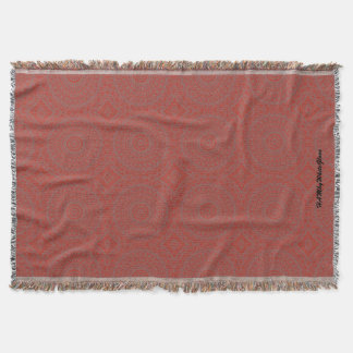 HAMbyWhiteGlove - Throw Blankets - Red Boho