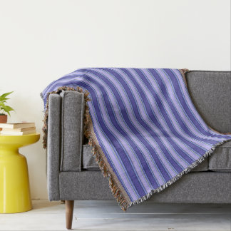 HAMbyWhiteGlove - Throw Blankets - Violet Stripes