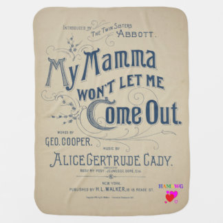 HAMbyWhiteGlove - Vintage SDesign Baby Blankets Receiving Blanket