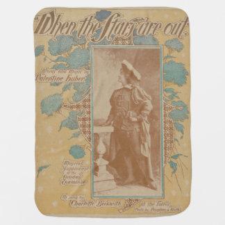 HAMbyWhiteGlove - Vintage Songbook Baby Blankets Receiving Blanket