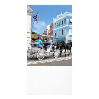 Hamilton Bermuda Carriage Ride Photo Card Template