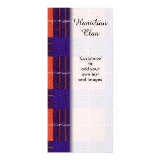 Hamilton clan Plaid Scottish tartan Rack Cards