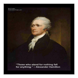 """Hamilton """"Fall For Anything"""" Quote Poster"""