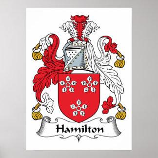 Hamilton Family Crest Poster