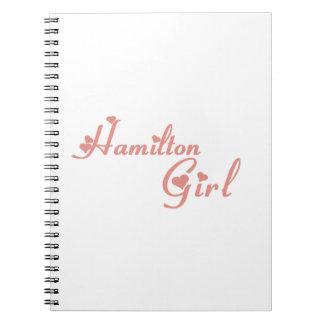 Hamilton Girl Spiral Notebook