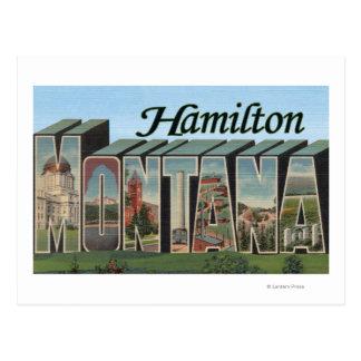 Hamilton, Montana - Large Letter Scenes Postcard