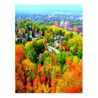 hamilton ontario autumn escarpment trees postcard