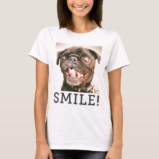 "Hamilton Pug's ""SMILE"" T-Shirt"