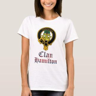 Hamilton scottish crest and tartan clan name T-Shirt