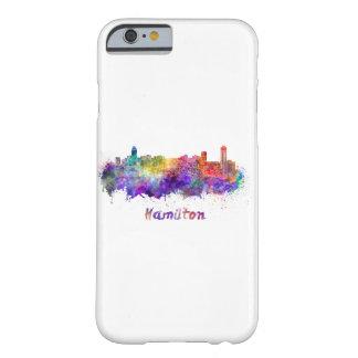 Hamilton skyline in watercolor barely there iPhone 6 case
