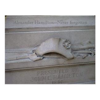 Hamilton statue card postcard