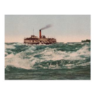 Hamilton Steamboat, Lachine Rapids near Montreal Postcard
