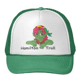 Hamilton Troll Green Baseball Cap Trucker Hat