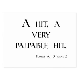 HAMLET A Hit, a Palpable Hit! Dartboard & items Postcard