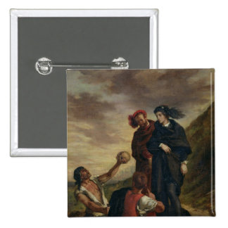 Hamlet and Horatio in the Cemetery 15 Cm Square Badge