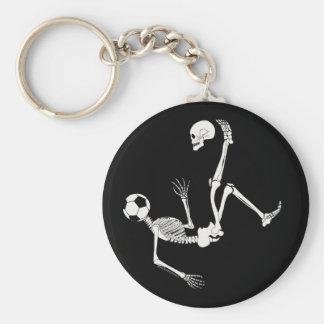 Hamlet Soccer Skull Basic Round Button Key Ring