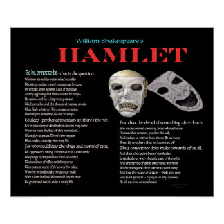 Hamlet To be or not to be Poster