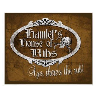 Hamlet's House of Ribs Poster