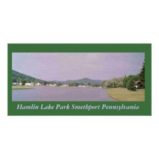 Hamlin Lake Park Smethport Postcard Customized Photo Card