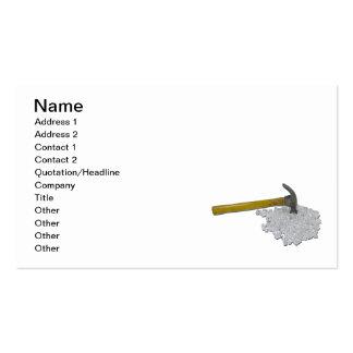 Hammer and Broken Glass Business Card Templates