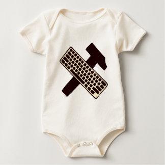 Hammer and keyboard baby bodysuit