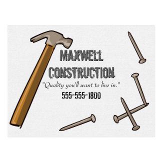 Hammer and Nails Postcard
