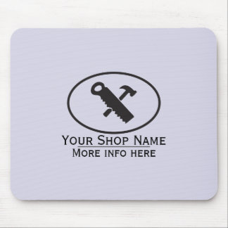 Hammer and Saw Design Mouse Pad