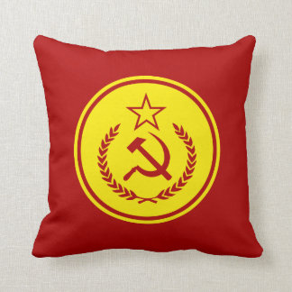 Hammer and Sickle Badge Pillows