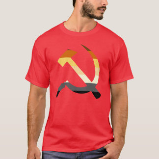 Hammer And Sickle Bear Pride Flag Colors T-Shirt