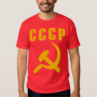 hammer and sickle cccp ussr tee shirts