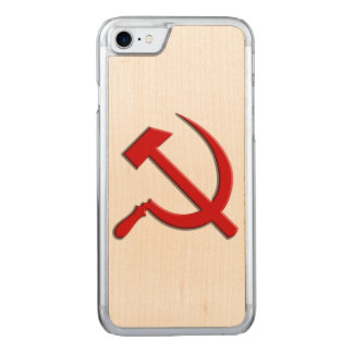 Hammer and Sickle Cell Phone Carved iPhone 7 Case