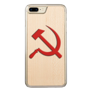 Hammer and Sickle Cell Phone Carved iPhone 7 Plus Case